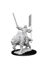WizKids Pathfinder Minis (unpainted): Orc on Dire Wolf Wave 7, 73547