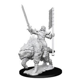 WizKids Pathfinder Minis (unpainted): Orc on Dire Wolf