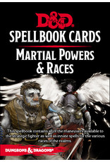 Gale Force Nine D&D 5e Spellbook Cards - Martial Powers & Races