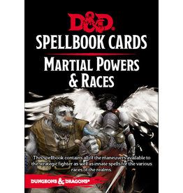 Gale Force Nine D&D 5e Spellbook Cards - Martial Powers & Races