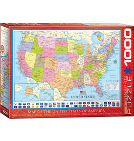 Eurographics Map of the US 1000pc Puzzle