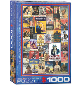 Eurographics WWI & WWII Vintage Posters 1000pc Puzzle