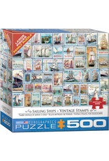 Eurographics Sailing Ships Vintage Stamps 500pc Puzzle