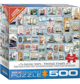 Eurographics Sailing Ships Vintage Stamps - 500 Piece Jigsaw Puzzle
