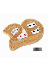 Wood Expressions Classic 29 Cribbage Set - Solid Wood 3 Track Board with Pegs