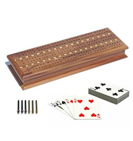 Wood Expressions Cabinet Cribbage Set - Walnut with Inlay