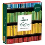 Galison I'd Rather Be Reading - 1000 Piece Jigsaw Puzzle
