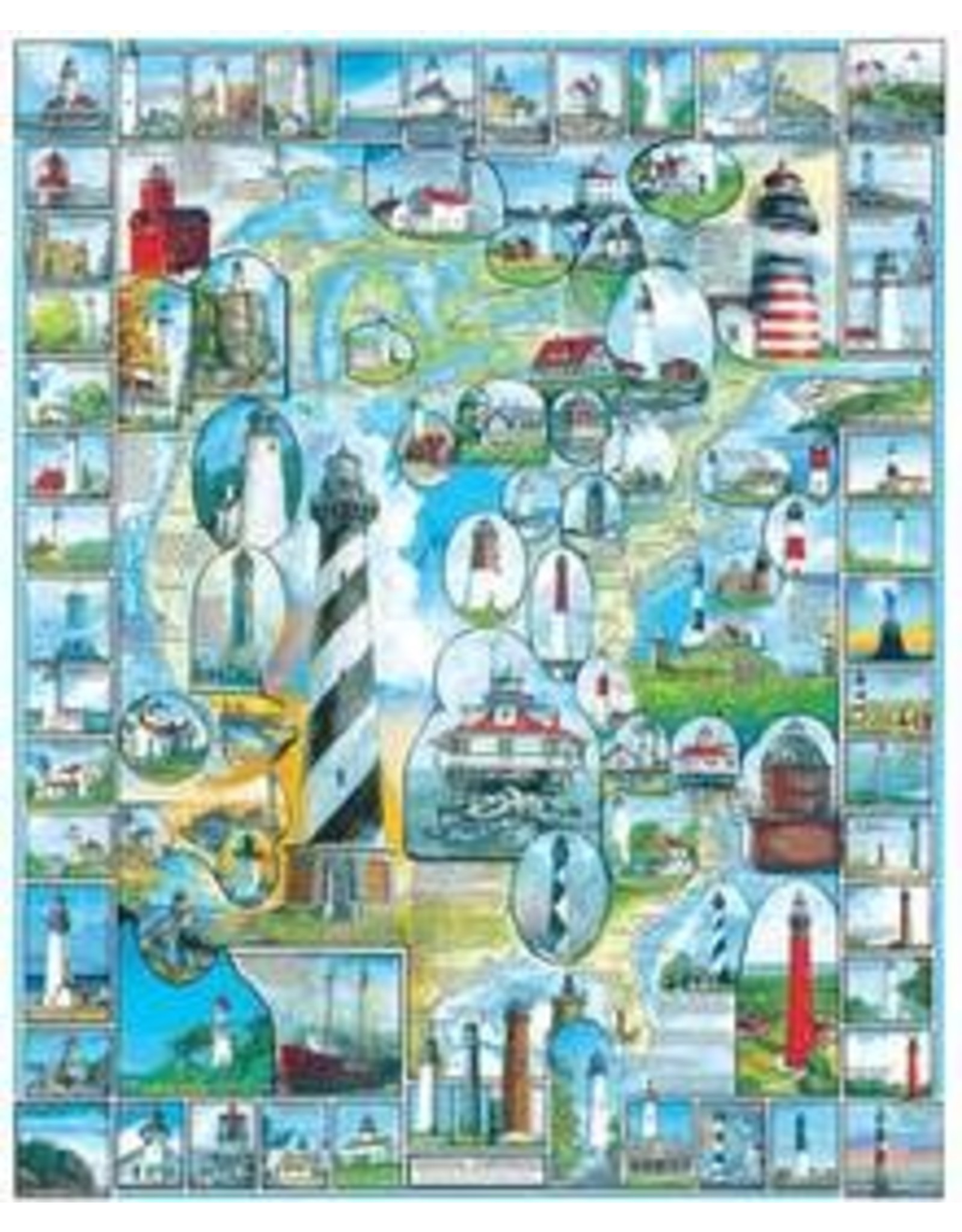 White Mountain Puzzles American Lighthouses 1000 pieces