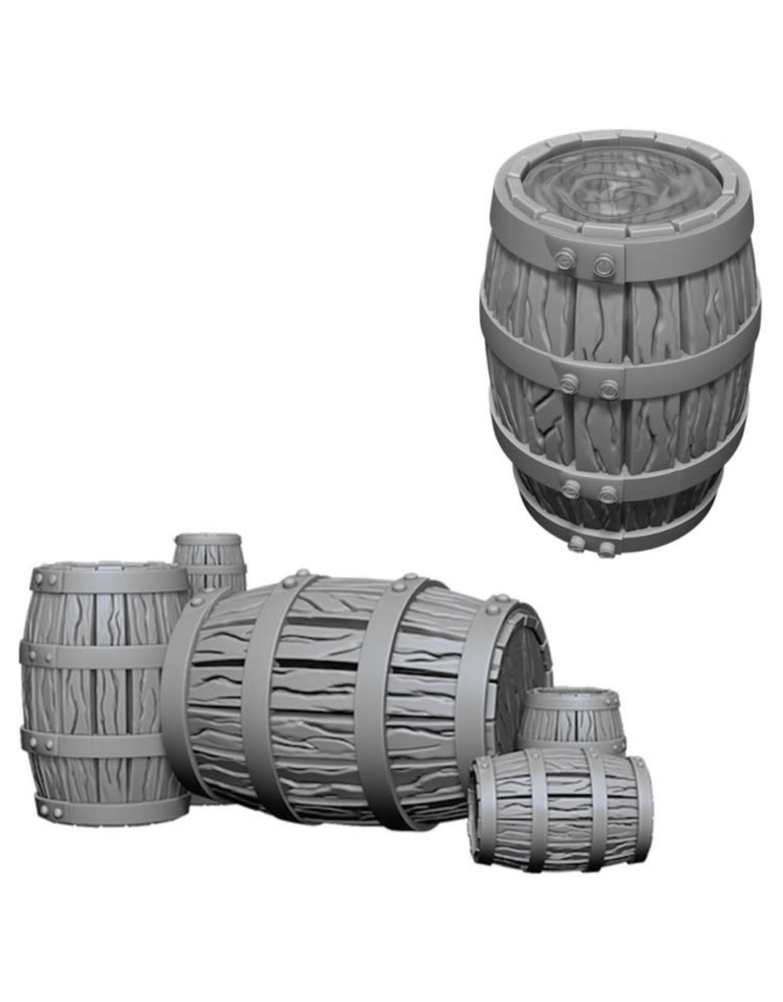 WizKids D&D Minis (unpainted): Barrel & Pile of Barrels Wave 5, 73361