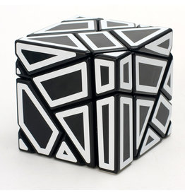 Ninja Ghost Cube Black - White Stickers (SCS)