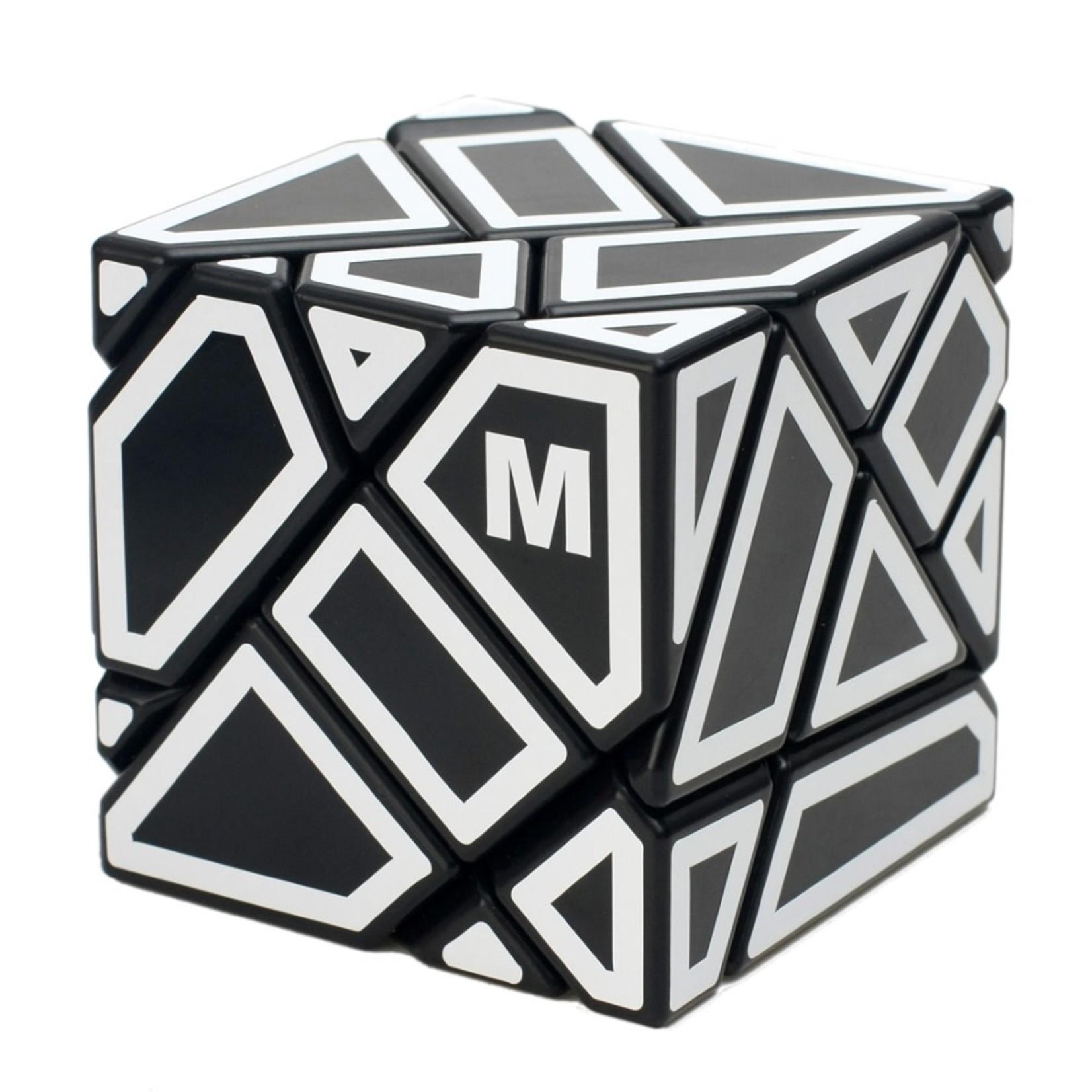 Ninja Ghost Cube Black - White Stickers (SCS)