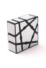 SpeedCubeShop Floppy Ghost Cube Silver Stickers (SCS)