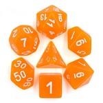 HD Dice 7-Set TR Glitter Orange w/White (HD)