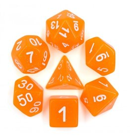 HD Dice 7-Set TR Glitter Orange w/White (HD)