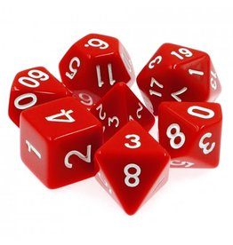 HD Dice 7-Set Opaque Red w/White (HD)