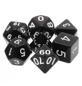 HD Dice 7-Set Opaque Black w/ White (HD)