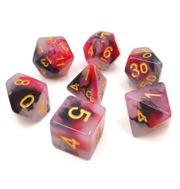 HD Dice 7-Set Jade Black-Red w/Gold (HD)