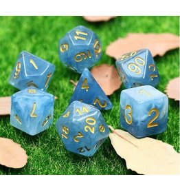 HD Dice 7-Set Jade Blue w/Gold (HD)