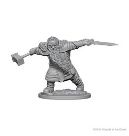 WizKids D&D Minis (unpainted): Dwarf Fighter (male) Wave 1, 72616