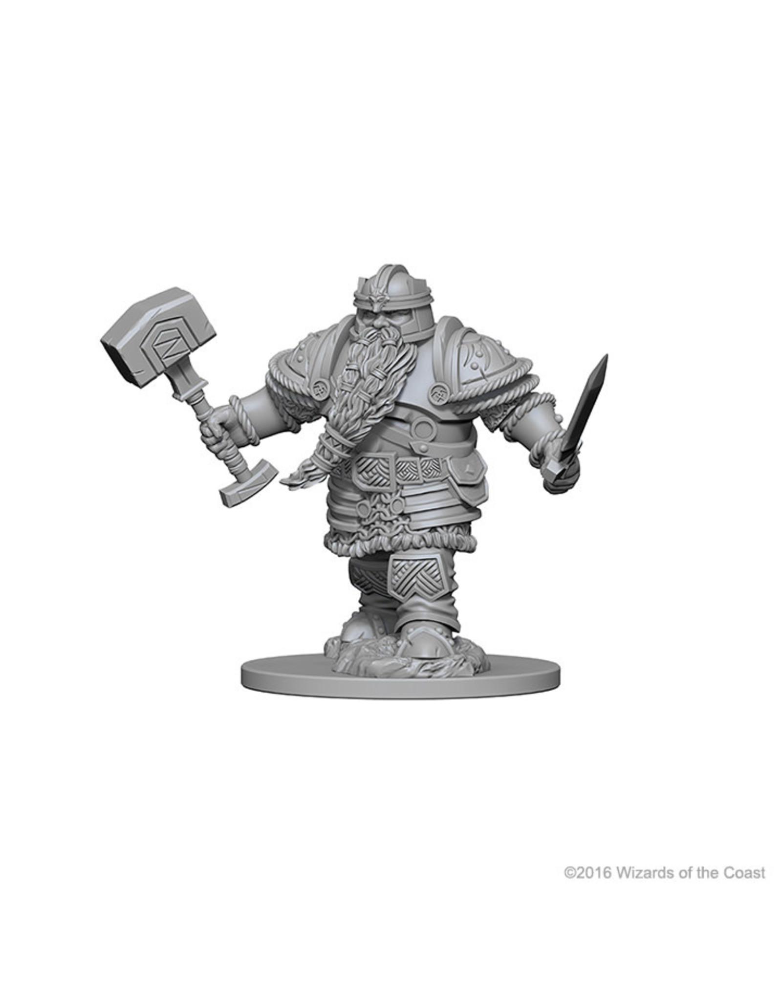 WizKids D&D Minis (unpainted): Dwarf Fighter (male) Wave 1, 72616