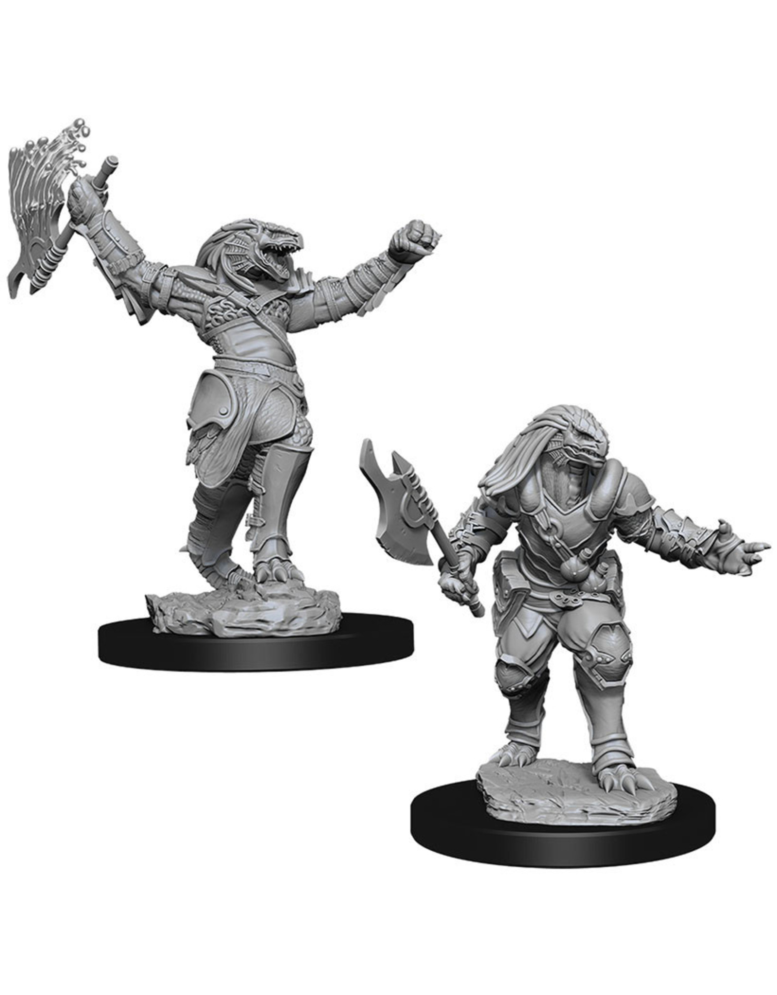 WizKids D&D Minis (unpainted) Dragonborn Fighter (female) Wave 11, 90001