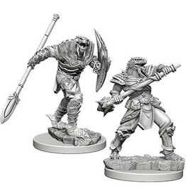 WizKids D&D Minis (unpainted) Dragonborn Fighter with Spear (male) Wave 5, 73340