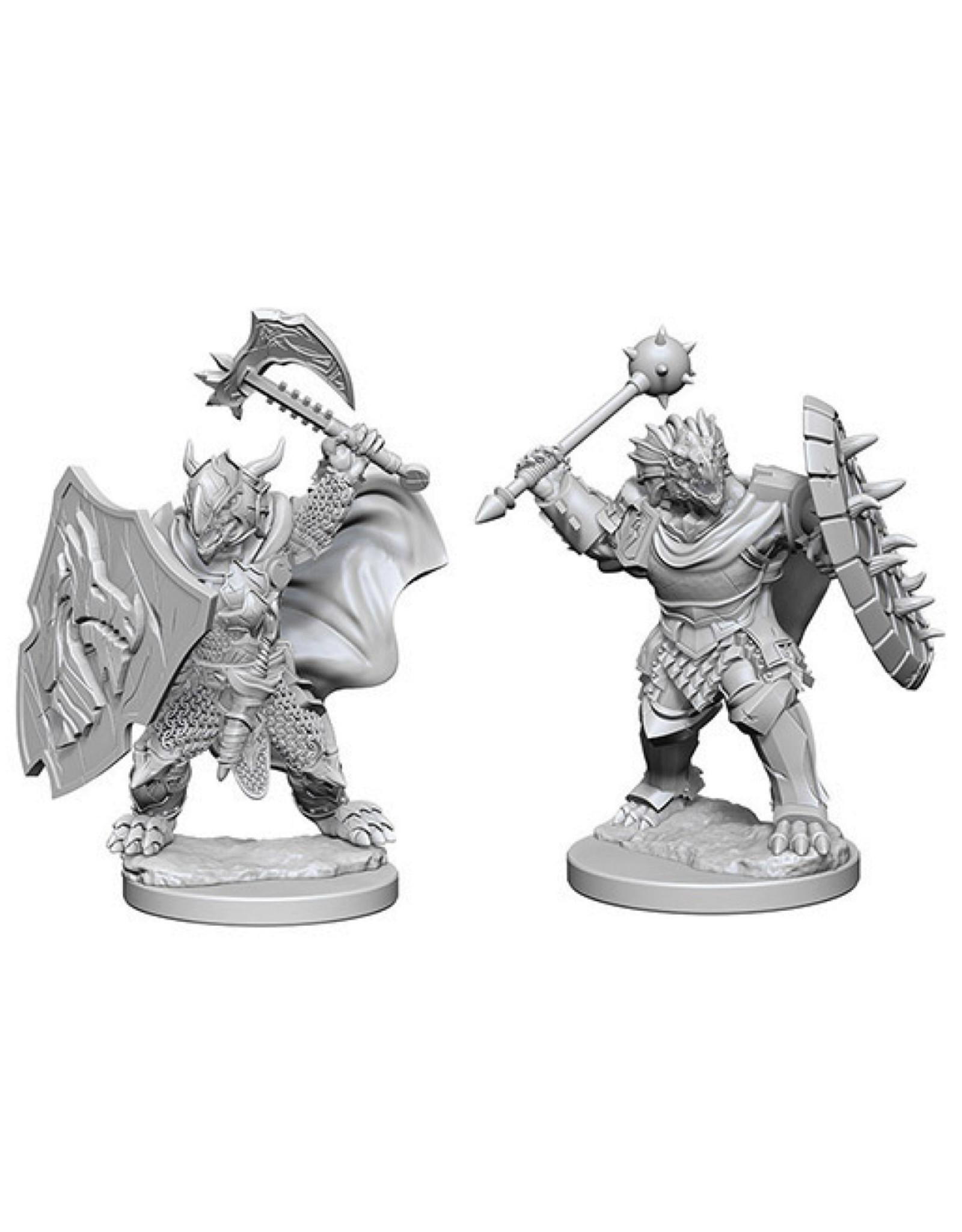 WizKids D&D Minis (Unpainted):  Dragonborn Paladin (male) Wave 4, 73200