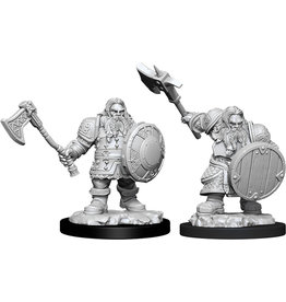 WizKids D&D Minis (unpainted) Dwarf Fighter (male) Wave 11, 90004