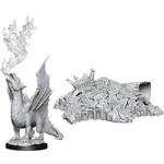 WizKids D&D Minis (unpainted): Gold Dragon Wyrmling & Small Treasure Pile Wave 11, 90028
