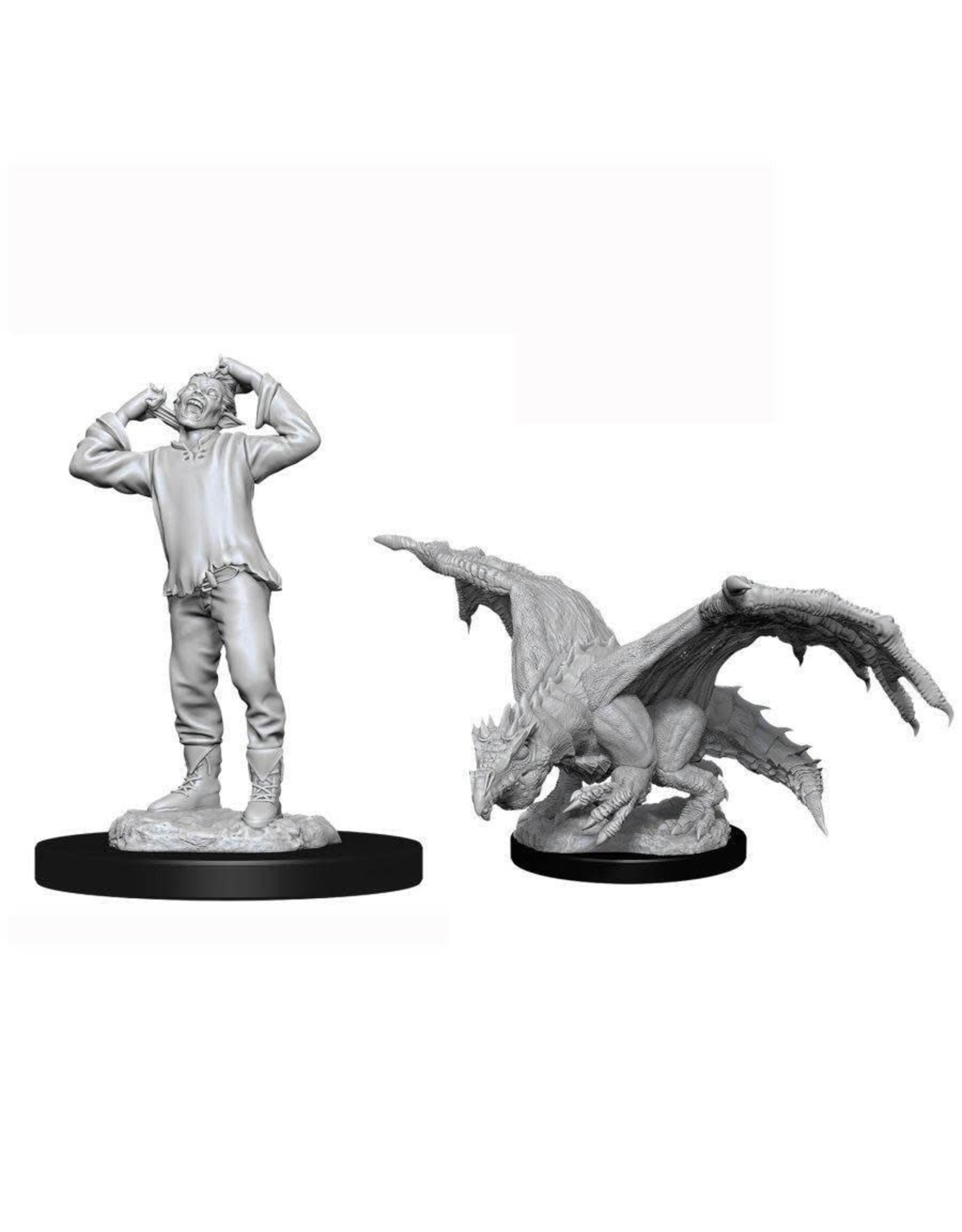 WizKids D&D Minis (unpainted): Green Dragon Wyrmling & Afflicted Elf Wave 11, 90029