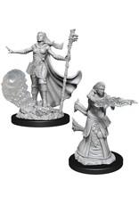 WizKids D&D Nolzur's Marvelous Miniatures (unpainted): Human Wizard (female) Wave 11