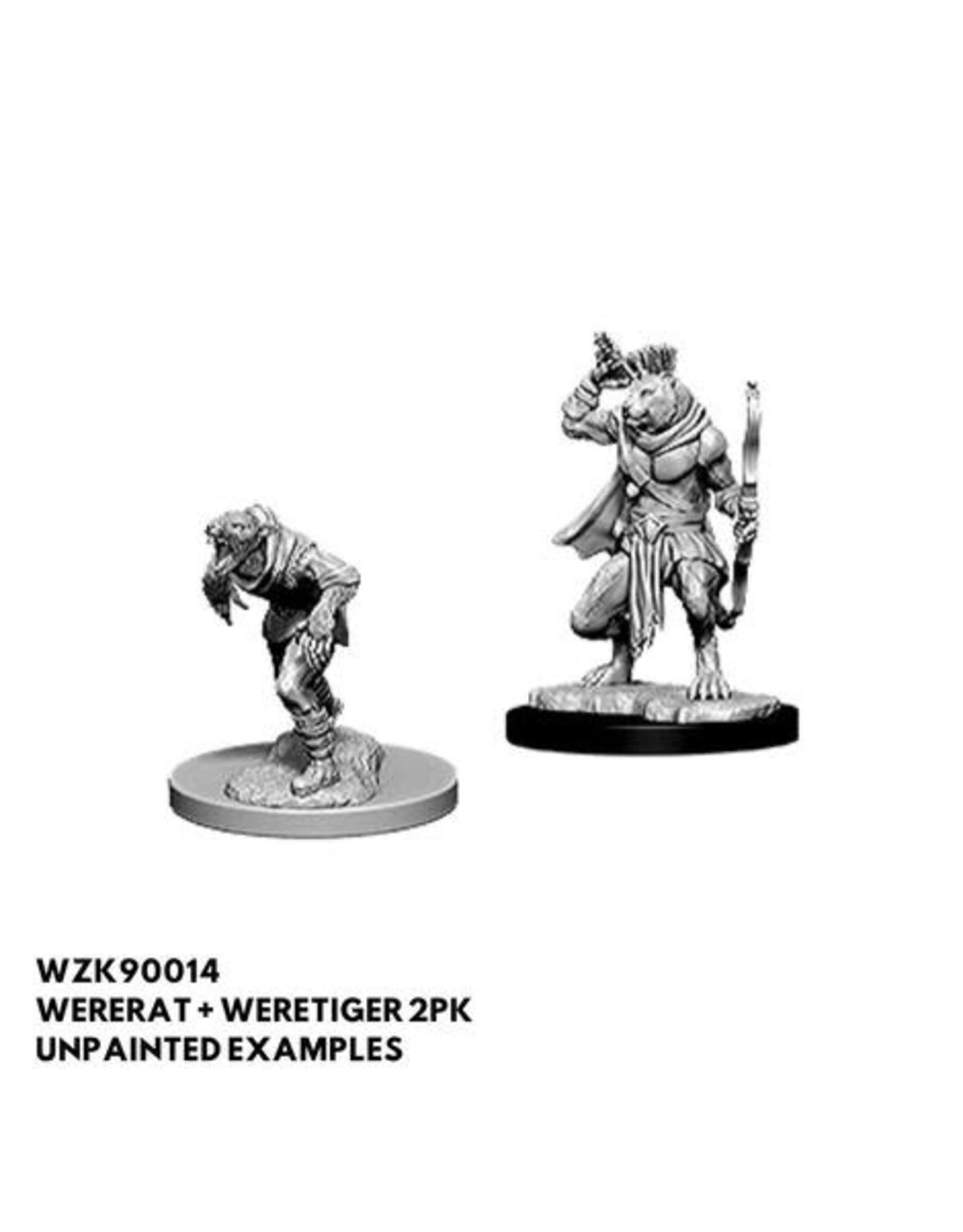 WizKids D&D Minis (unpainted): Wererat & Weretiger Wave 11, 90014