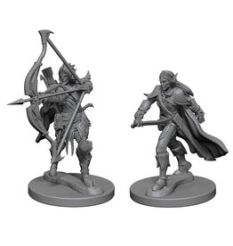 WizKids Pathfinder Minis (unpainted): Elf Fighter (male) Wave 1, 72598