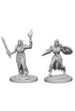 WizKids Pathfinder Minis (unpainted): Elf Fighter (female) Wave 1, 72599