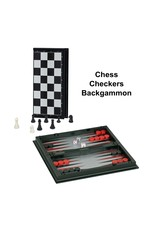 """Wood Expressions Chess Set 10"""" Magnetic 3-in-1"""