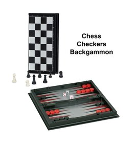 "Wood Expressions Chess Set 10"" Magnetic 3-in-1"