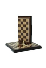 """Wood Expressions 2-in-1 Chess & Checkers Set Walnut Magnetic 8"""""""
