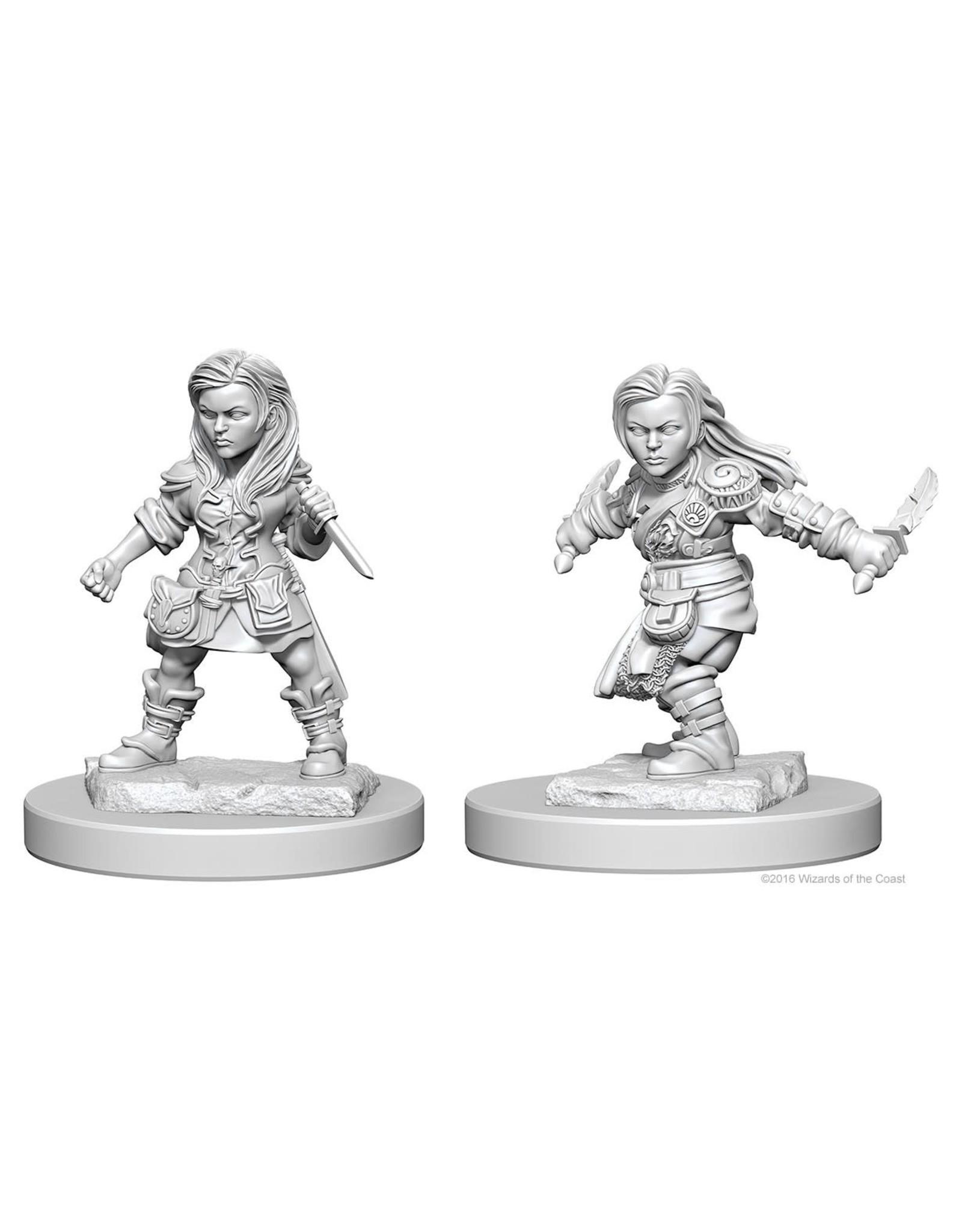 WizKids D&D Minis (unpainted): Halfling Rogue (female) Wave 1, 72627