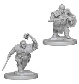 WizKids D&D Minis (unpainted): Dwarf Fighter (female) Wave 2, 72617