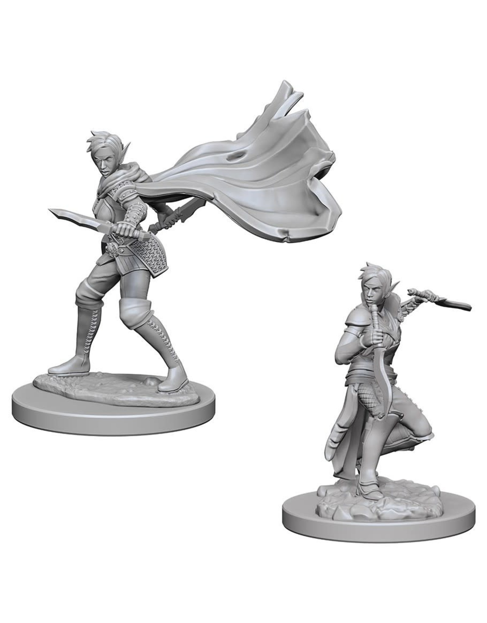 WizKids Pathfinder Minis (unpainted): Elf Rogue (female) Wave 4, 73187