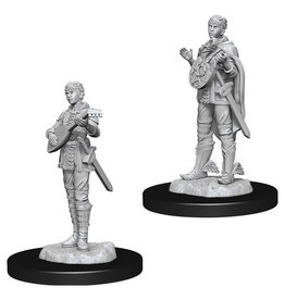 WizKids D&D Minis (unpainted): Half-Elf Bard (female) Wave 7, 73538