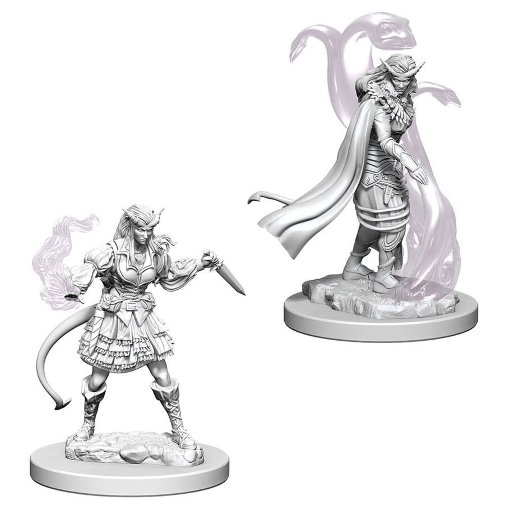 WizKids D&D Minis (unpainted): Tiefling Sorcerer (female) Wave 4, 73202