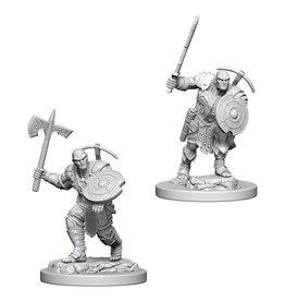 WizKids D&D Minis (unpainted): Earth Genasi Fighter (male) Wave 4, 73203
