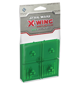 Fantasy Flight Games SW X-Wing Bases & Pegs Green