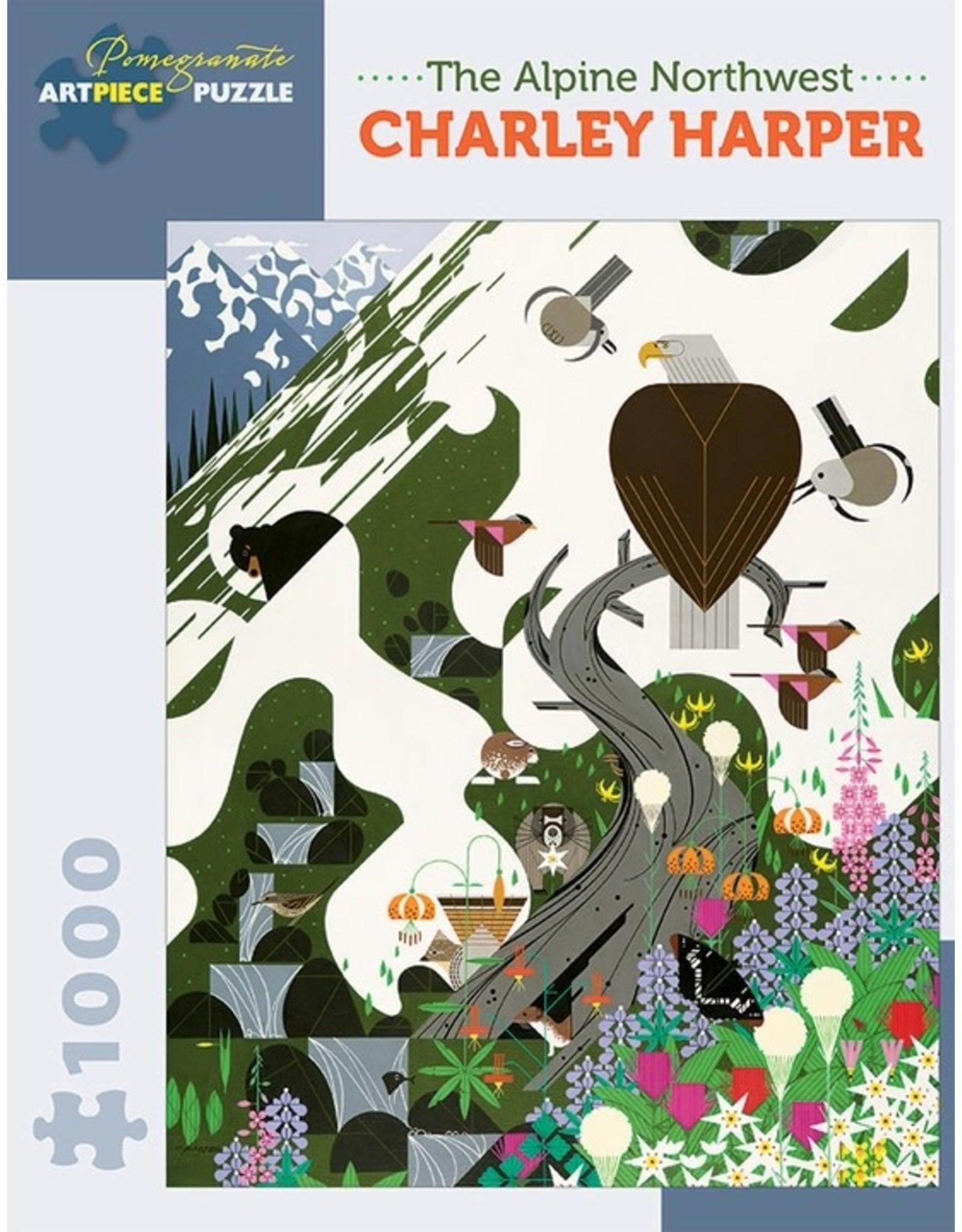 Pomegranate Charley Harper The Alpine Northwest - 1000 Piece Jigsaw Puzzle