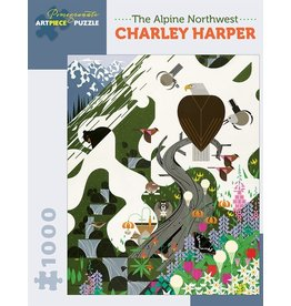 Pomegranate Charley Harper The Alpine Northwest - 1000 Piece Jigsaw Puzzle