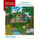 Pomegranate CJ Hurley Cliffside House in Mountains 500 - Piece Jigsaw Puzzle