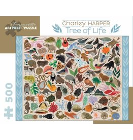 Pomegranate Charley Harper Tree of Life 500 - Piece Jigsaw Puzzle