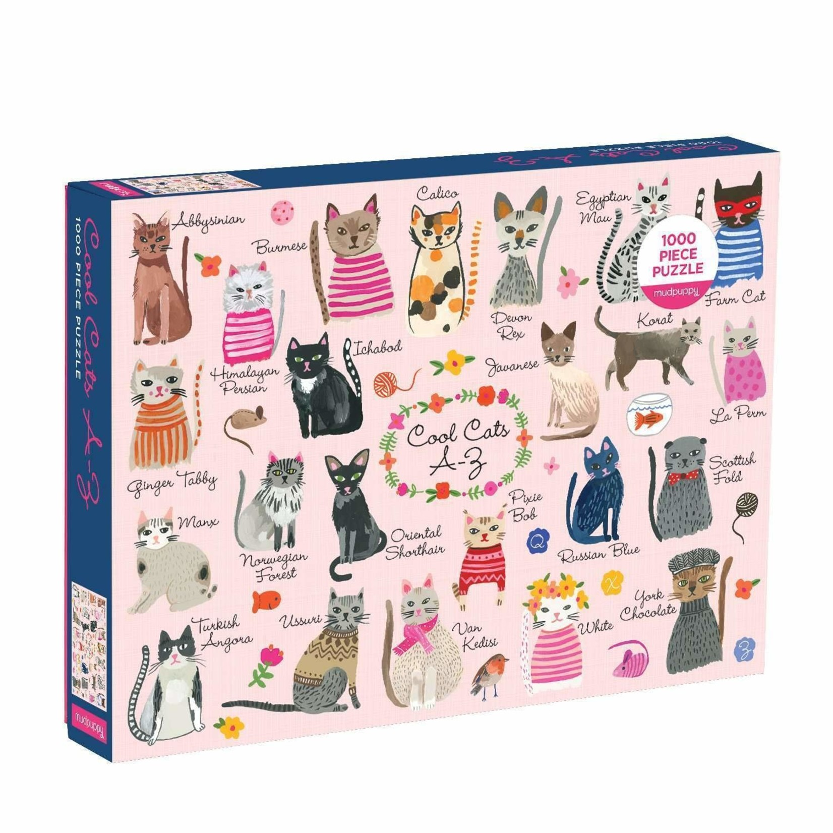 Galison Cool Cats A-Z - 1000 Piece Jigsaw Puzzle