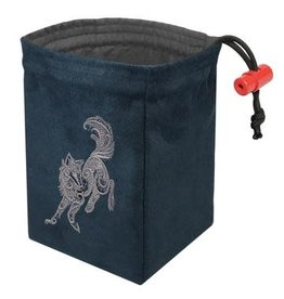 Red King Co Dice Bag Embroidered Baroque Wolf